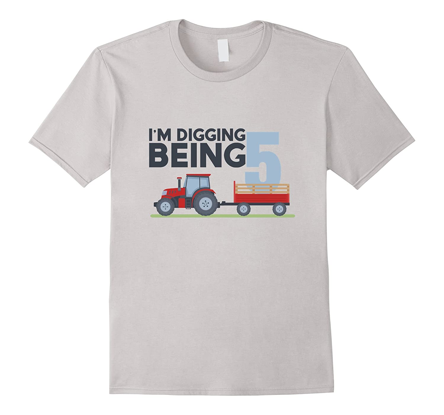 08679b56c 5th Birthday Tshirt Age 5 Year Old Tractor Boy Girl Shirt-FL ...