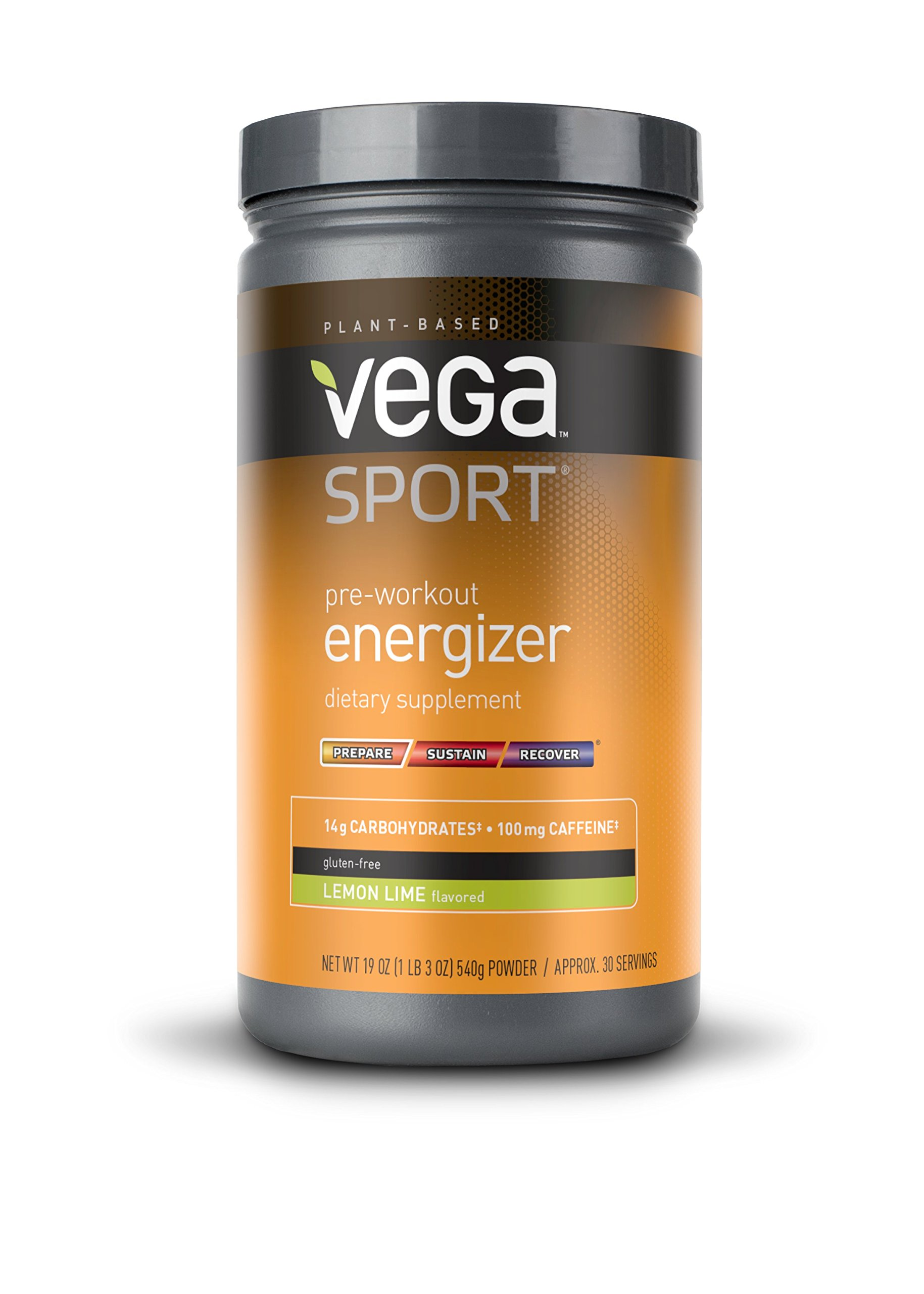 Vega Sport Pre-Workout Energizer, Lemon Lime, 19oz, 30 Servings