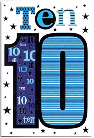 Birthday card for ten 10 year old boy free 1st class post uk birthday card for ten 10 year old boy free 1st class post bookmarktalkfo Images