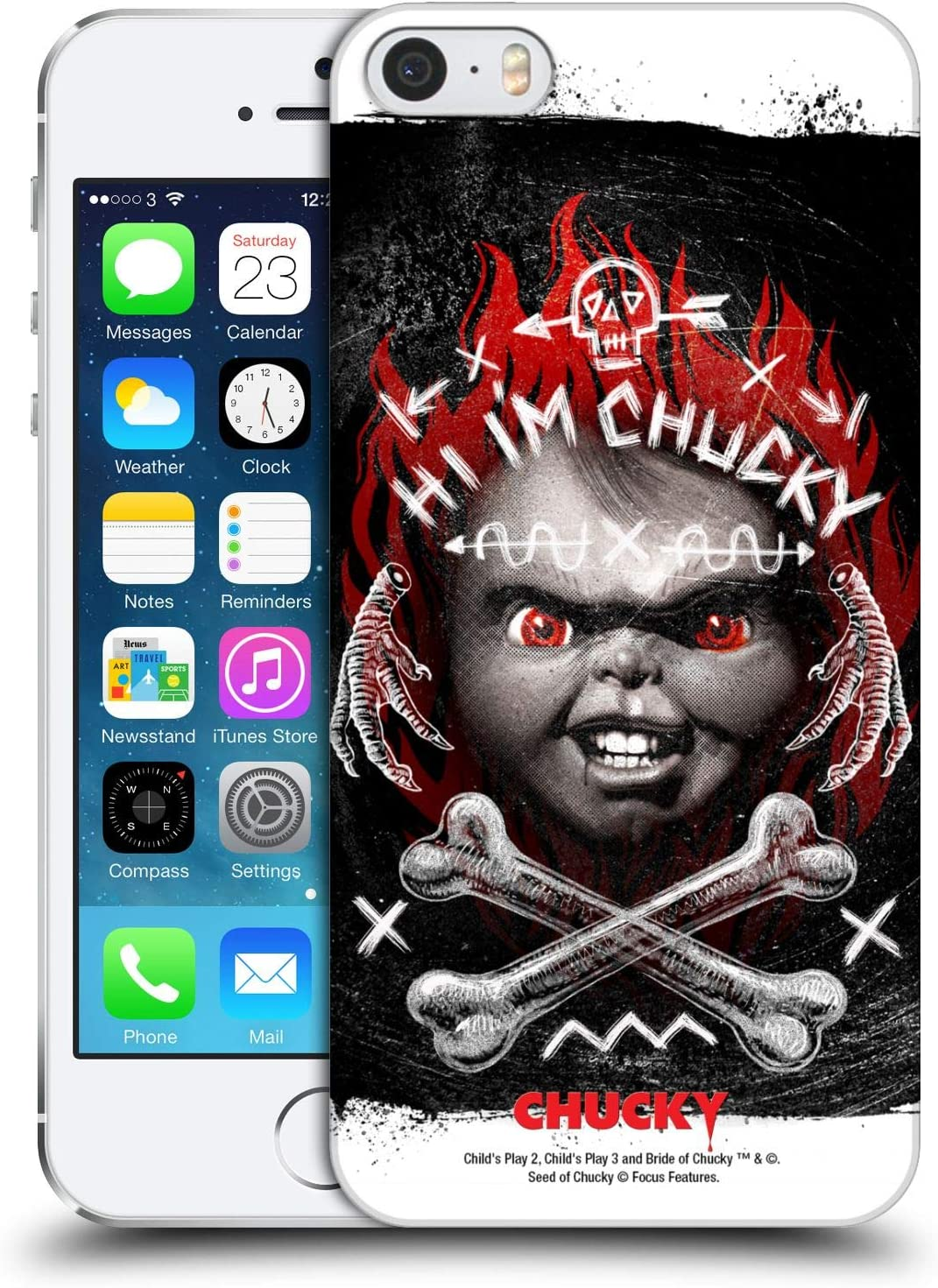 Head Case Designs Officially Licensed Child's Play Hi I'm Chucky Grunge Key Art Hard Back Case Compatible with Apple iPhone 5 / iPhone 5s / iPhone SE 2016