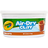 Crayola 1.13kg Air Dry Clay, Terracotta Colour, Sculpt, Model, Design, Natural Earth Clay, Great for Art Projects!