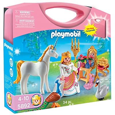 PLAYMOBIL Princess Carrying Case Playset: Toys & Games