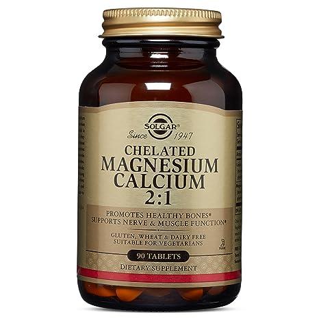 Solgar Magnesio/Calcio Quelado 2:1 Comprimidos - Envase de 90