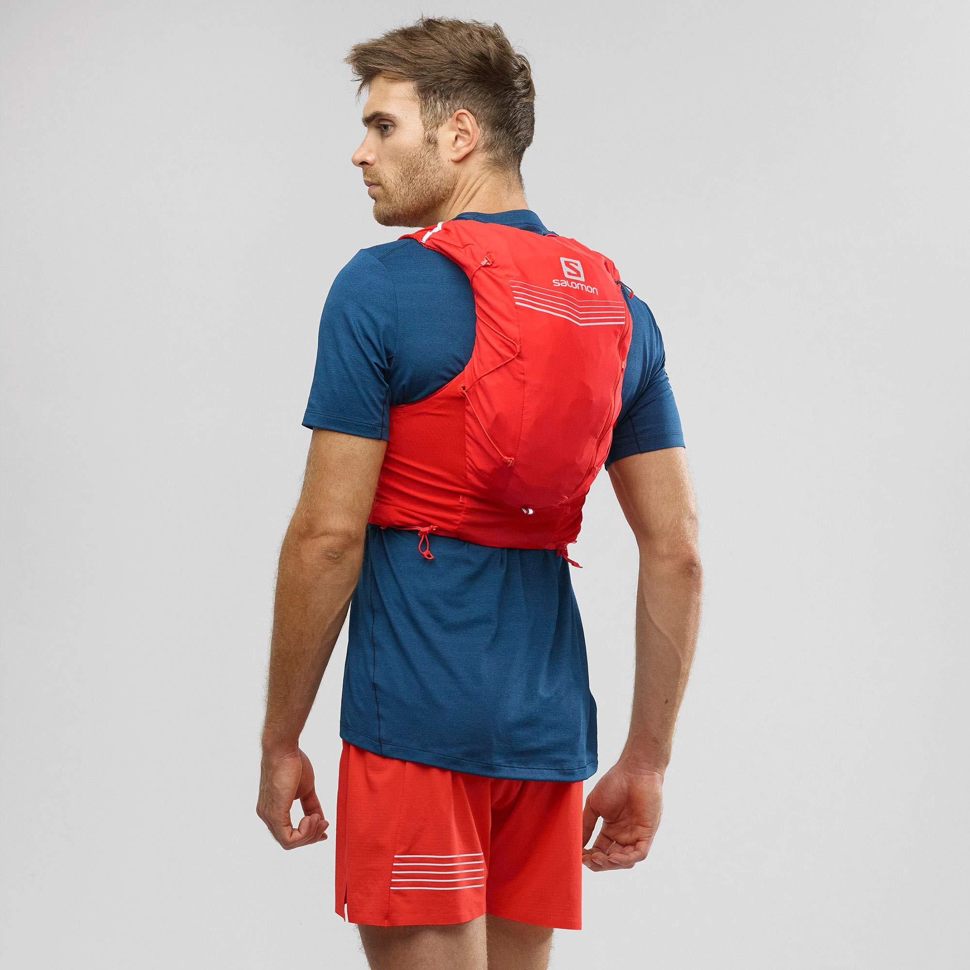 Salomon Mens Advanced Skin 12 Set Running Vest, Fiery Red, X-Large by Salomon (Image #3)