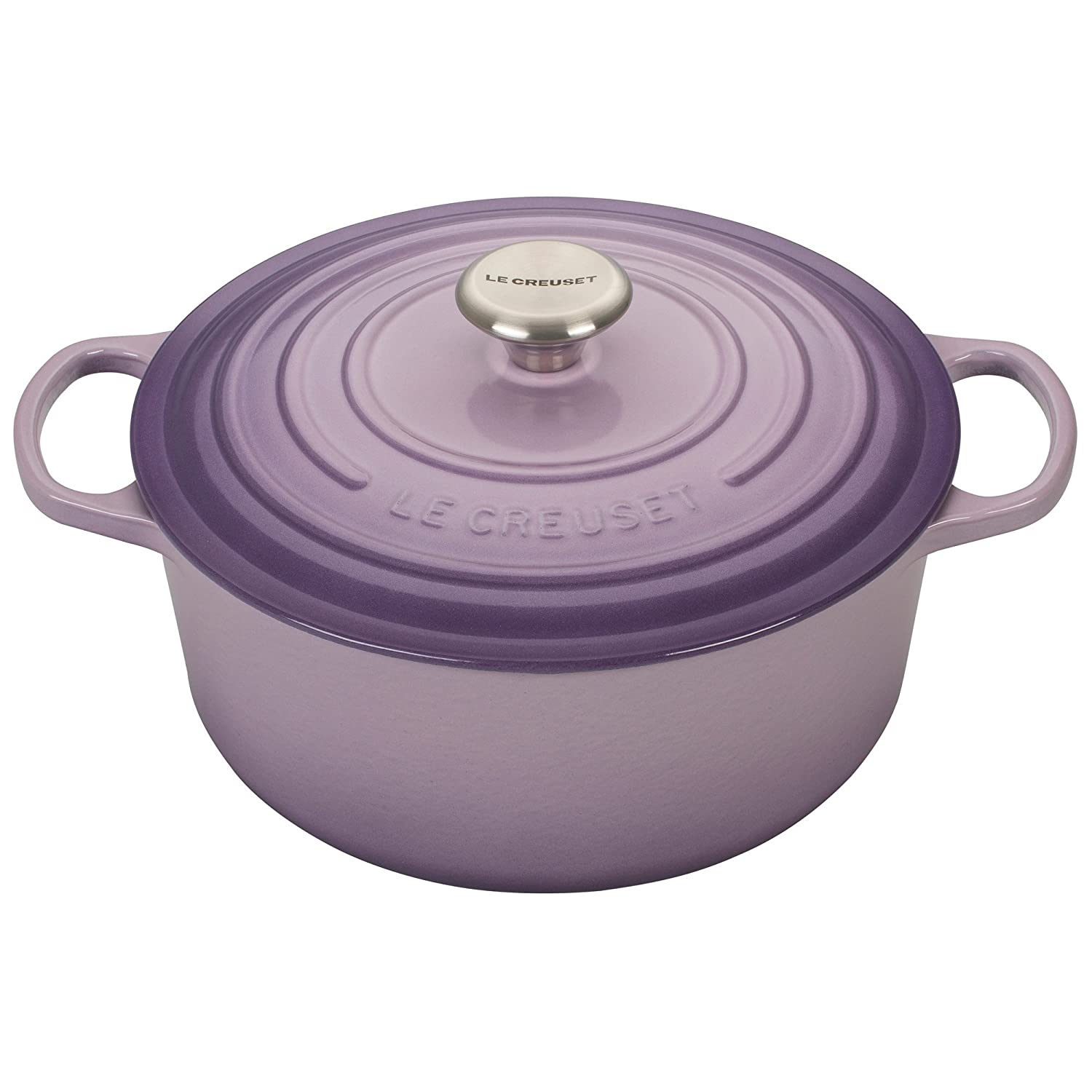 Le Creuset LS2501-26BPSS Signature Enameled Cast-Iron 5-1/2-Quart Round Dutch Oven, Provence