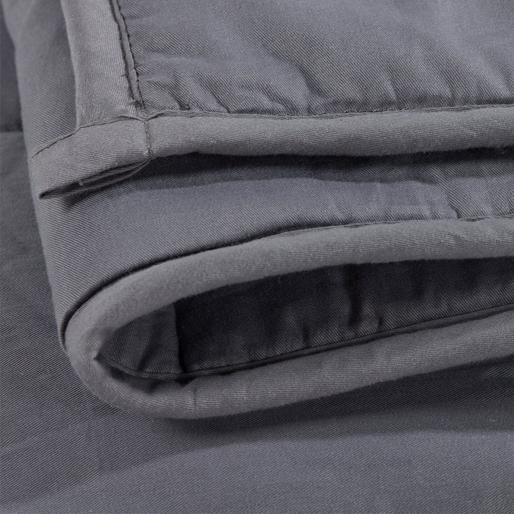 Witlucky Weighted Blanket for Adults, Stress and Anxiety Relief, Improve Sleep Quality, Great for ADHD, Autism, OCD and Sensory Processing Disorder (Grey, 60x80 inch,17 lbs) by Witlucky (Image #8)