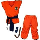 Papapanda Bambini Dragonball Son Goku Vestito Costume Abbigliamento da Allenamento