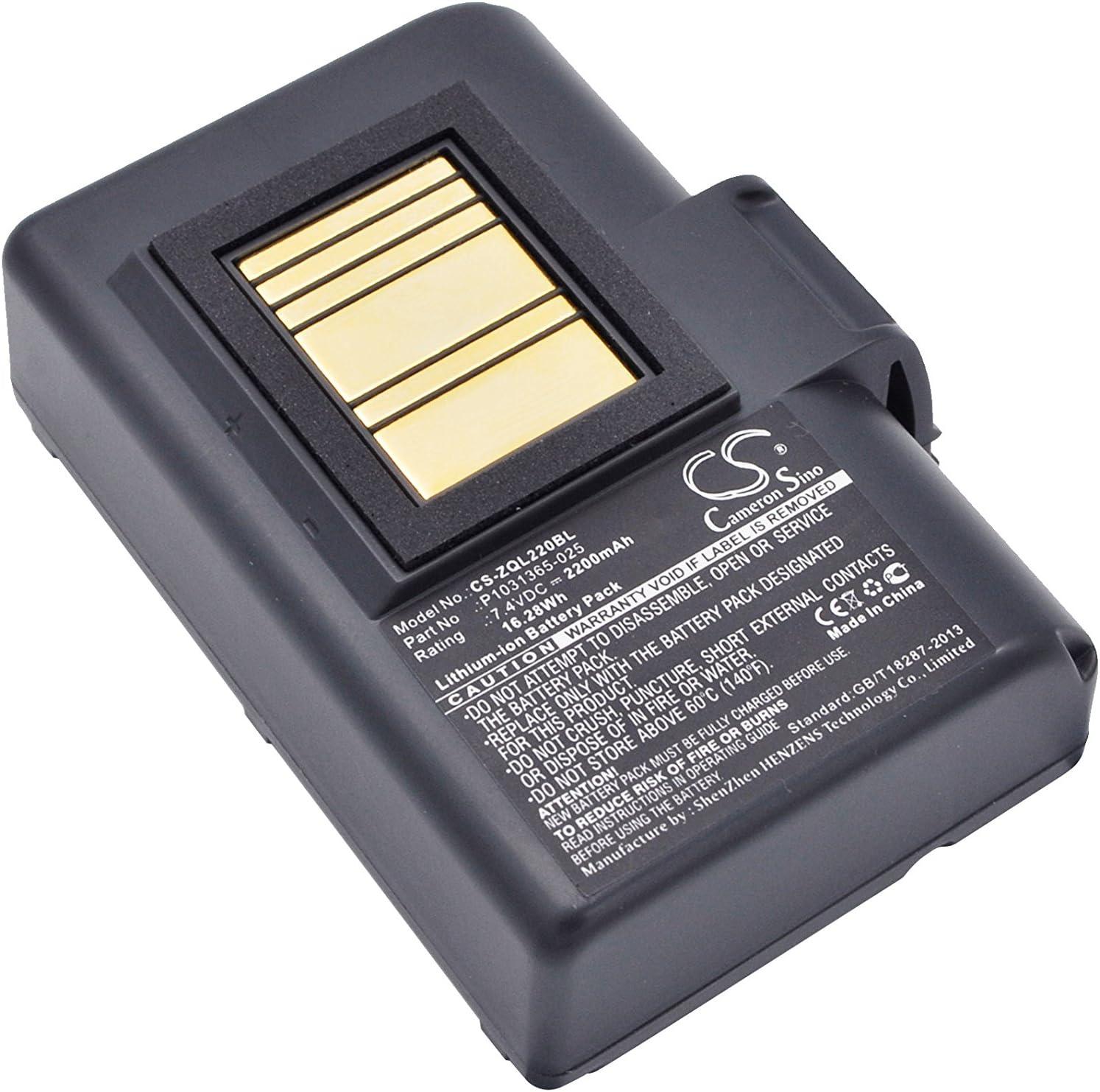 Replacement Battery for Zebra QLN320 QLN220 ZQ520 ZQ500 ZQ510 P1023901 P1023901-LF P1031365-025