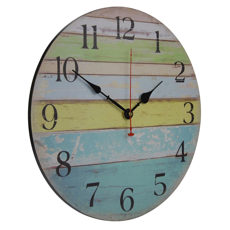 Amazon.com: Old Oak Large Decorative Wall Clock Silent Non-Ticking ...