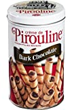 Pirouline Rolled Wafers, Crème filled Dark Chocolate 14oz tin (pack of 6)
