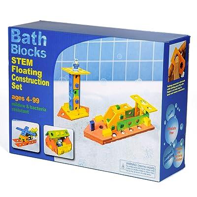 BathBlocks STEM Floating Construction Set: Toys & Games