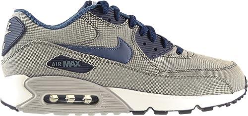 Nike Air Max 90 Premium Hombres Zapatos de obsidiana/New slate-photo  Blue-Wolf Grey 333888 – 403