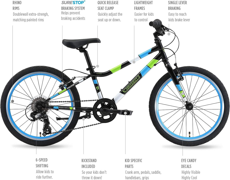 Easy Assembly Guardian Kids Bikes Ethos Lightweight Steel Construction ASO SharkTank. Multiple Colors for Boys//Girls Safer Brake System for Kids 16//20//24 Inch