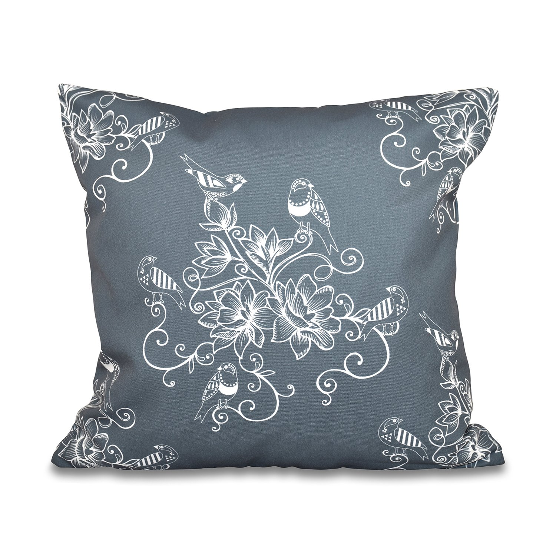 E by design O5PFN496GY3-18 Printed Outdoor Pillow
