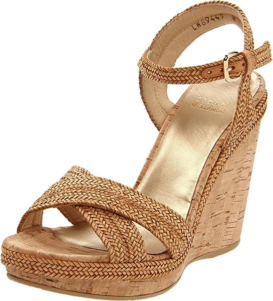 89dd053f5b1 Women s Minx Wedge Sandal. Stuart Weitzman Women s Minx Camel Laniard 9 ...