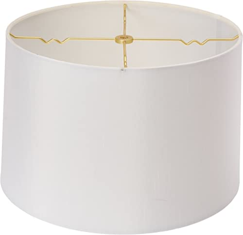 Royal Designs HB-610-14WH Shallow Drum Hardback Lamp Shade, 13 x 14 x 9, White
