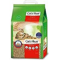 Cat's Best Original   Arena para Gatos Aglomerante 20L (8,6 kg). Tierra para Gatos de Hasta 7 Semanas de Uso. Arena…