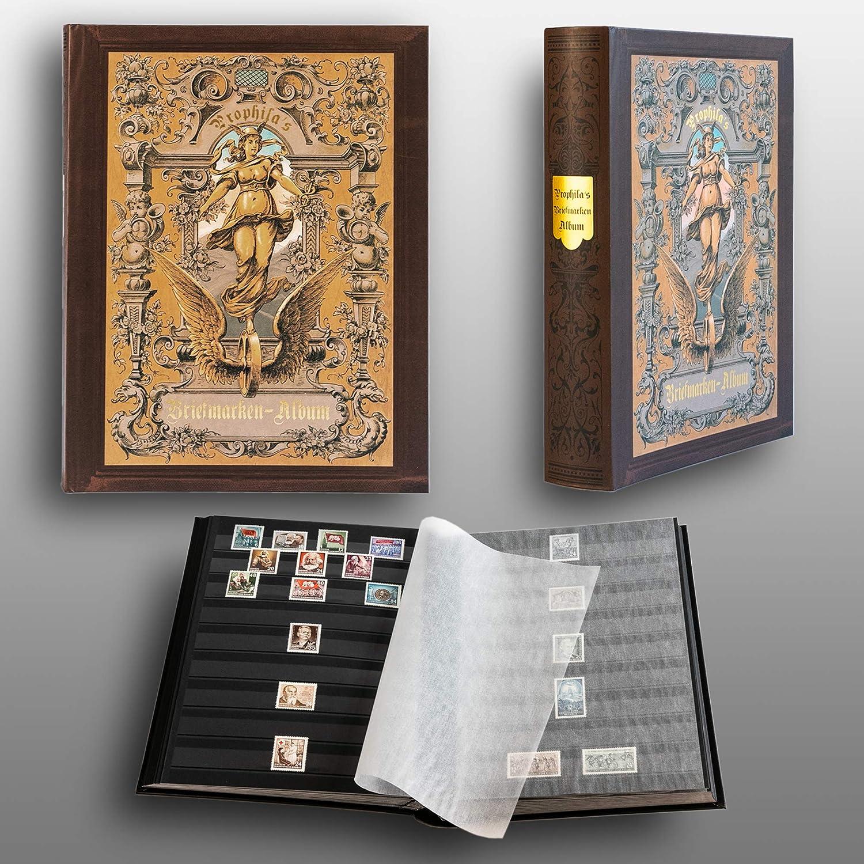 Prophila Nostalgia Clasificador Sellos 60 paginas Negro: Amazon.es: Juguetes y juegos