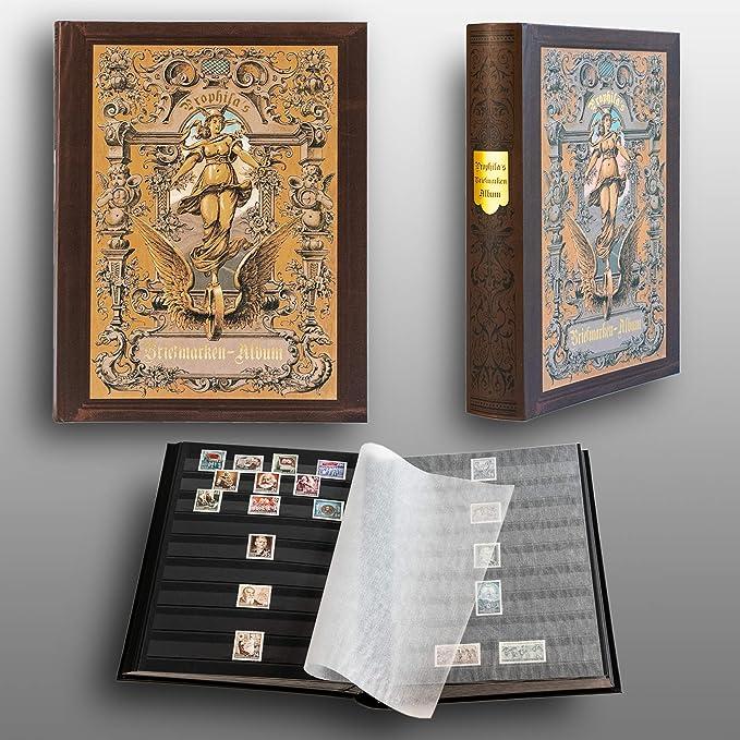 Prophila Nostalgia Clasificador Sellos 60 paginas Negro: Amazon.es ...