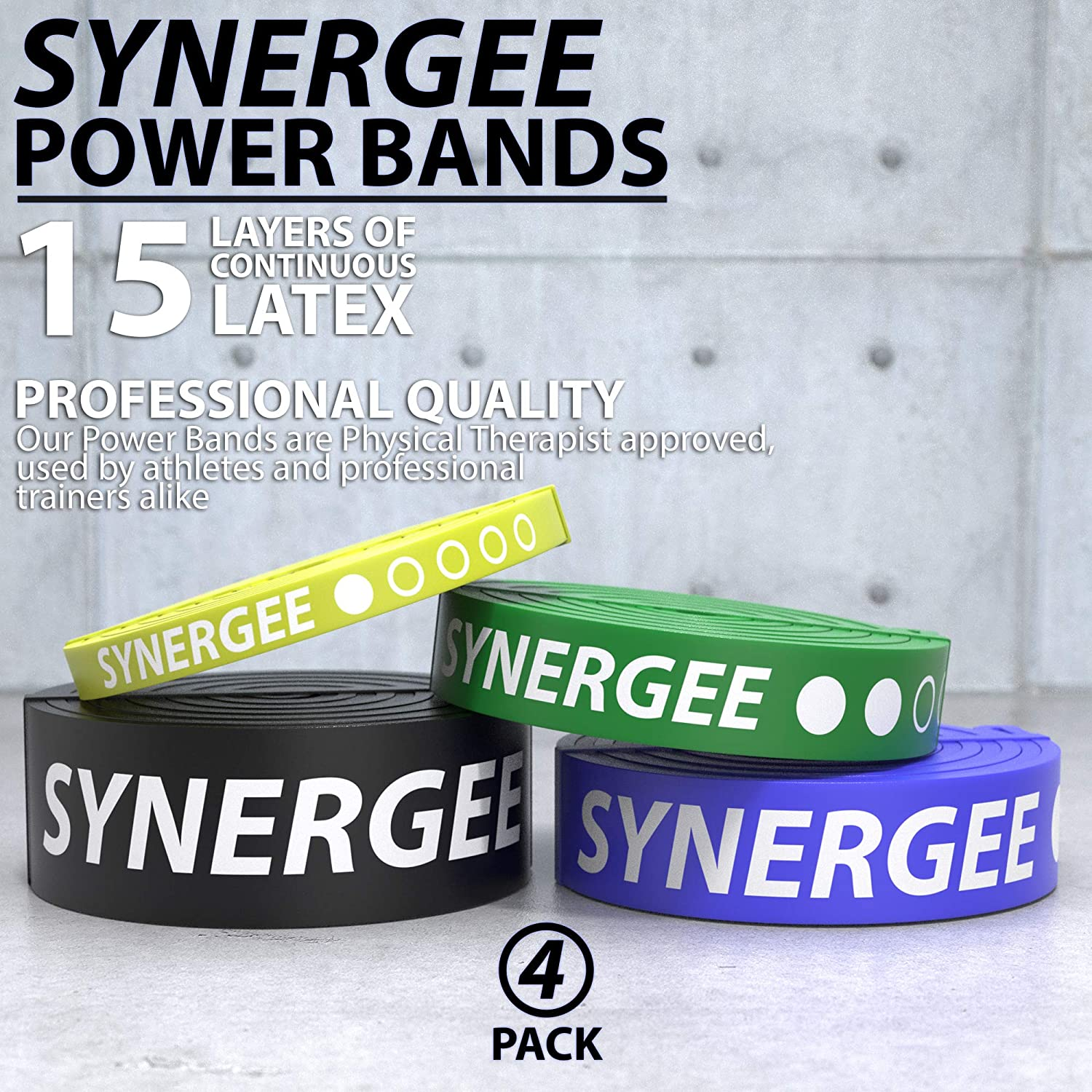 Perfect for Stretching Powerlifting Heavy Duty Resistance Super Bands Resistance Training Power Band Resistance Loop Exercise Bands Mobility /& Powerlifting Bands Synergee Pull Up Assist Bands