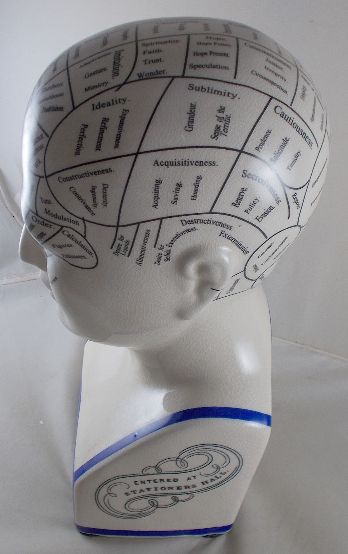 L.N. Fowler Phrenology Head Statue by Magoo's General Store (Image #8)