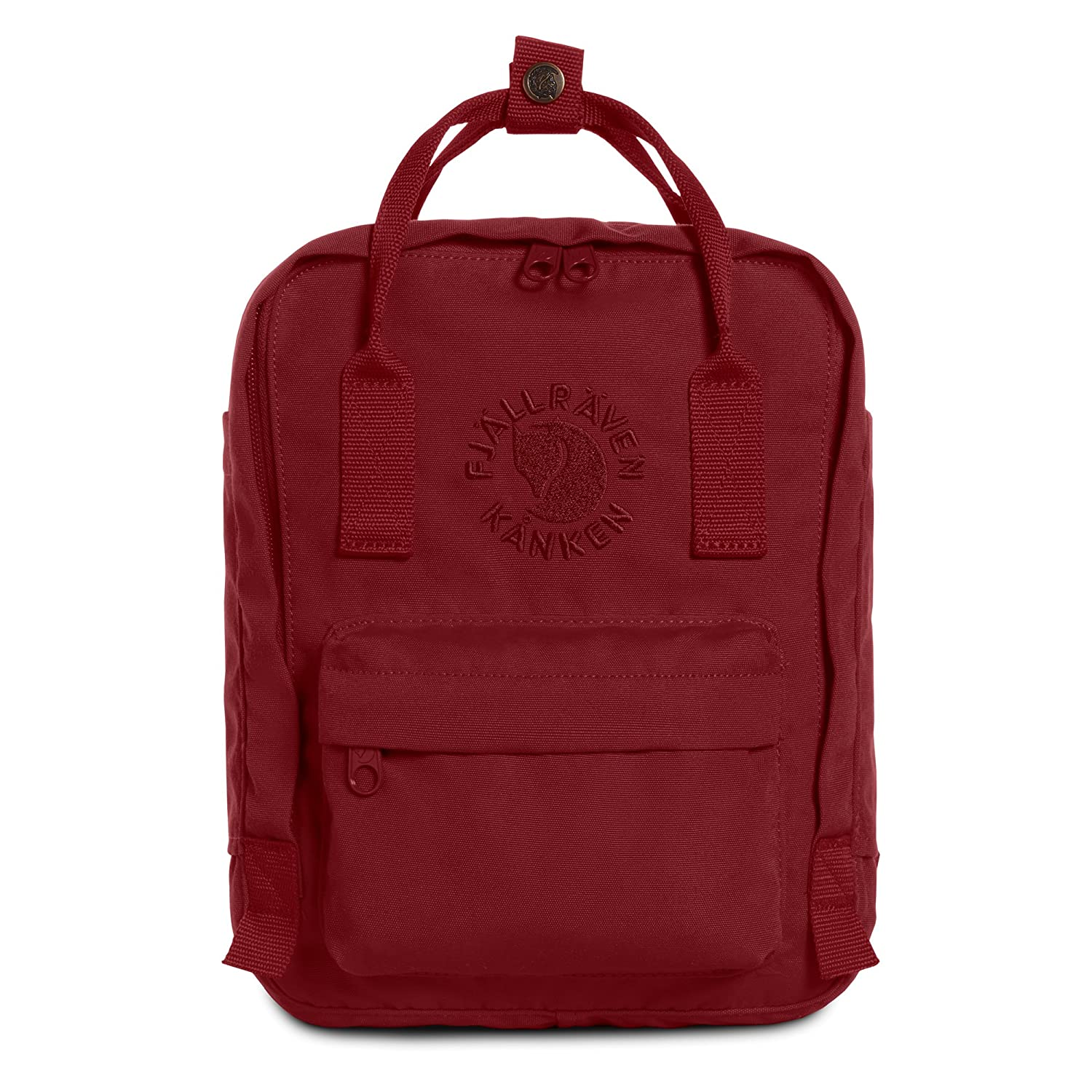 Fjallraven - Kanken, Re-Kanken Mini Recycled Backpack for Everyday Use, Heritage and Responsibility Since 1960 Black 23549