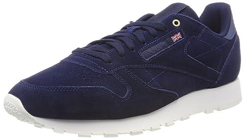ecaa12f52de67 Reebok Men s Cl Leather MCC Blue Chalk Running Shoes - 6 UK India ...