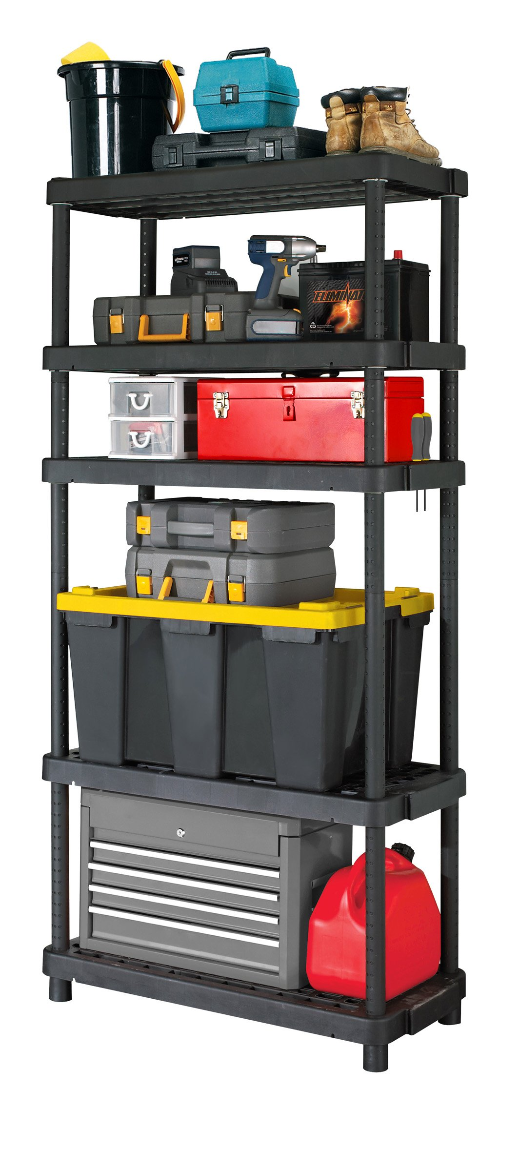Gracious Living Adjustable 5-Shelf Heavy Duty Shelving Unit