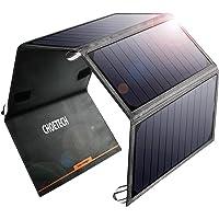 CHOETECH 24 W Solar-Ladegerät mit 2 USB-Ports, tragbar, kompatibel mit Apple iPhone, iPad, Galaxy und Anderen Geräten, kompatibel mit USB