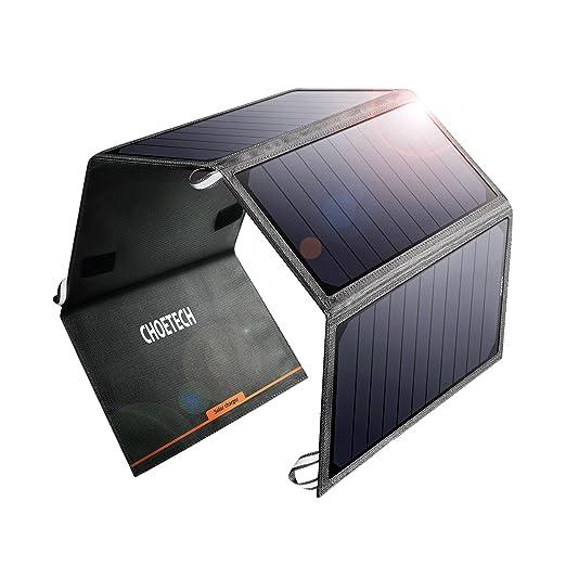 9 opinioni per CHOETECH 24W caricatore solare con 2 porte USB per Iphone, iPad, Samsung e altri