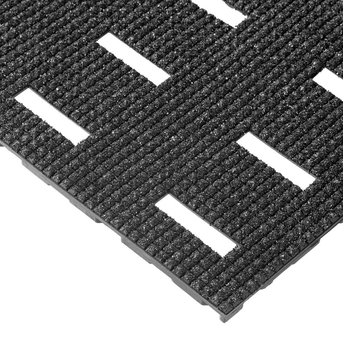 NoTrax Vinyl 422 Cushion-Dek Anti-Fatigue Drainage Mat, for Wet Areas, 2' Width x 6' Length x 7/16'' Thickness, Black