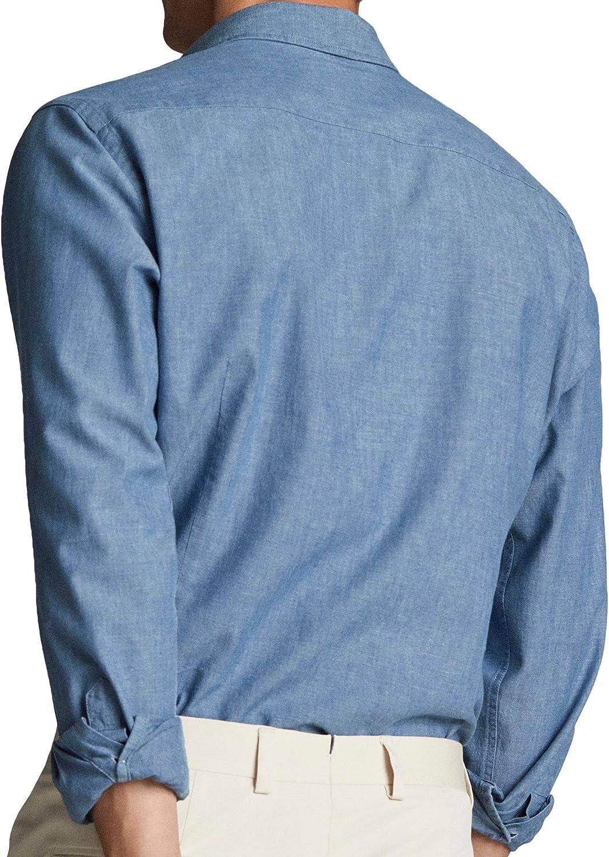 MASSIMO DUTTI 0165/126/400 - Camisa de Mezclilla para Hombre: Amazon.es: Ropa y accesorios