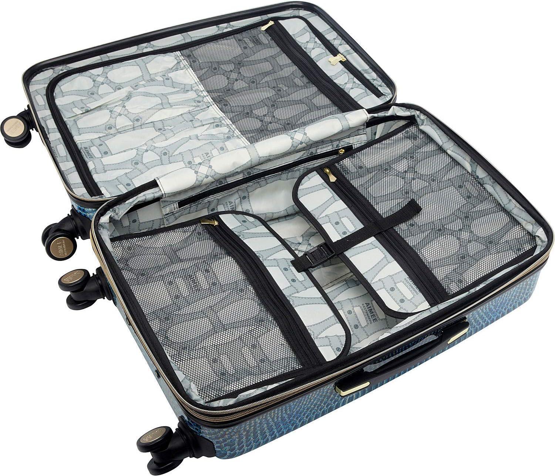 Aimee Kestenberg Womens Ivy 24 Hardside Expandable 8-Wheel Spinner Checked Luggage Marine Python