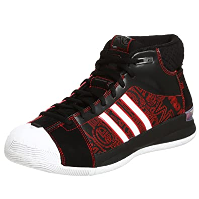 save off ff84a dba54 Adidas Men's TS Pro Model Player Basketball Shoe, Black/White/Red ...