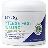 TriDerma Intense Fast Healing Cream, Decreases Healing Time for Minor Irritations, Rashes, Scrapes, Cuts 4 Ounces