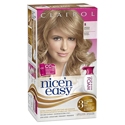 Amazon clairol nice n easy foam hair color 8 medium blonde 1 amazon clairol nice n easy foam hair color 8 medium blonde 1 kit chemical hair dyes beauty solutioingenieria Images