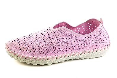 BM3-045 - Mocasines de Piel para Mujer Rosa Rosa 37 EU, Color Rosa, Talla 37 EU: Amazon.es: Zapatos y complementos