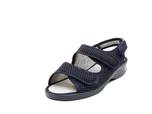 Zapatilla Mujer, Marca DOCTOR CUTILLAS, Color Azul Marino, Cierre Dos velcros - 21739-115: Amazon.es: Zapatos y complementos