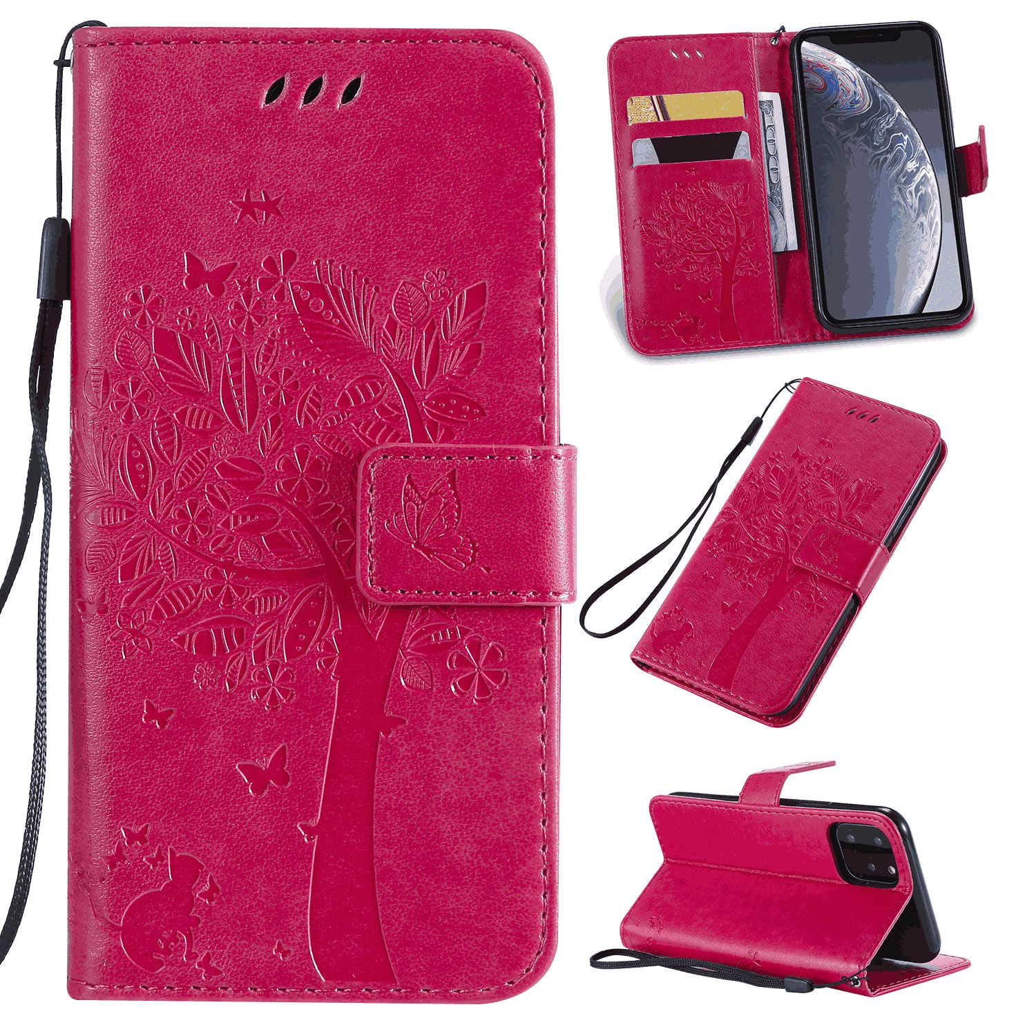 Leather Cover Compatible with iPhone 11 Gray Wallet Case for iPhone 11