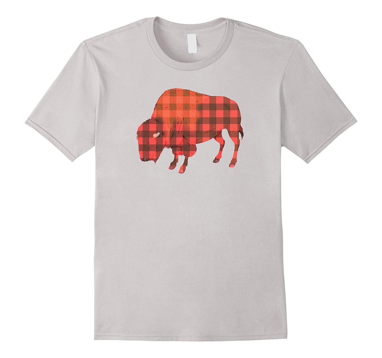 Christmas Shirt Sayings.Buffalo Plaid Print Bison Funny Pun Holiday Christmas Shirt Anz