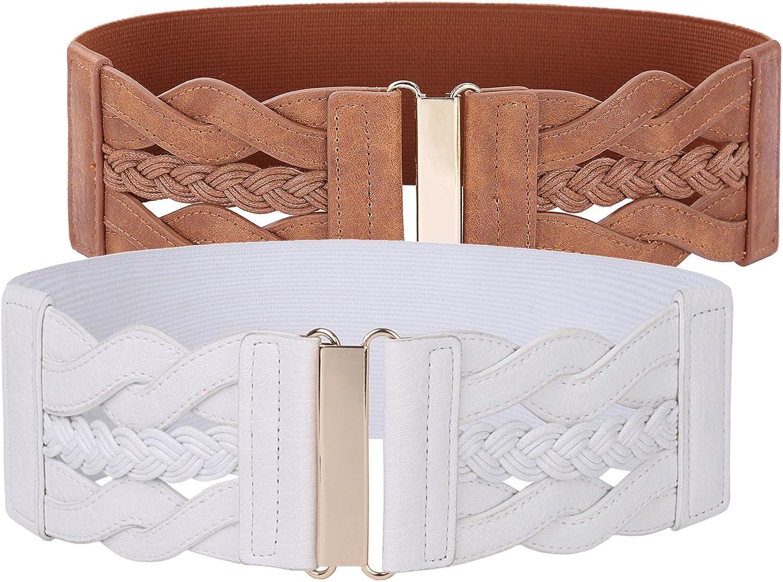 GRACE KARIN Womens Elastic Vintage Belt Stretchy Retro Wide Waist Cinch Belt