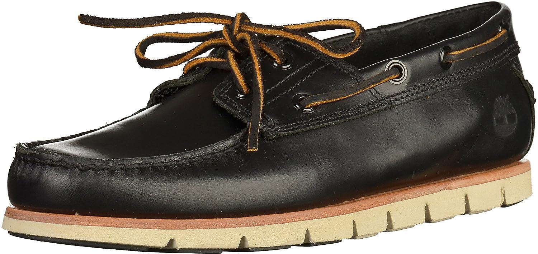 TALLA 40 EU. Barco de encaje zapatos Timberland CA1BHT Tidelands 2 Ojo Negro Negro Brando