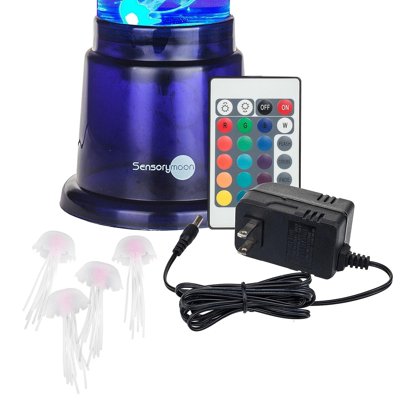 amazon com sensorymoon jellyfish lamp aquarium mood light w large