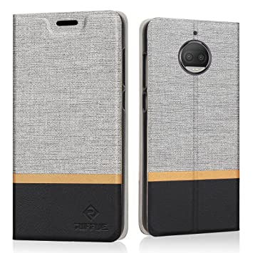 RIFFUE Funda Moto G5s Plus, Carcasa Delgada Libro de Cuero con Tapa Cartera de Ranura y Billetera Elegante Case Cover para Motorola Moto G5s Plus - ...