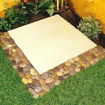 Parkland Pack Of 4 Pebble Border Stone Garden Plant Lawn Edging Strips Wall  Tile Bathroom