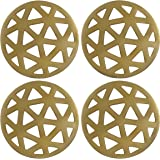 Thirstystone NCH030 Old Hollywood Geometric Cut Coasters with Gold Finish (Set of 4)
