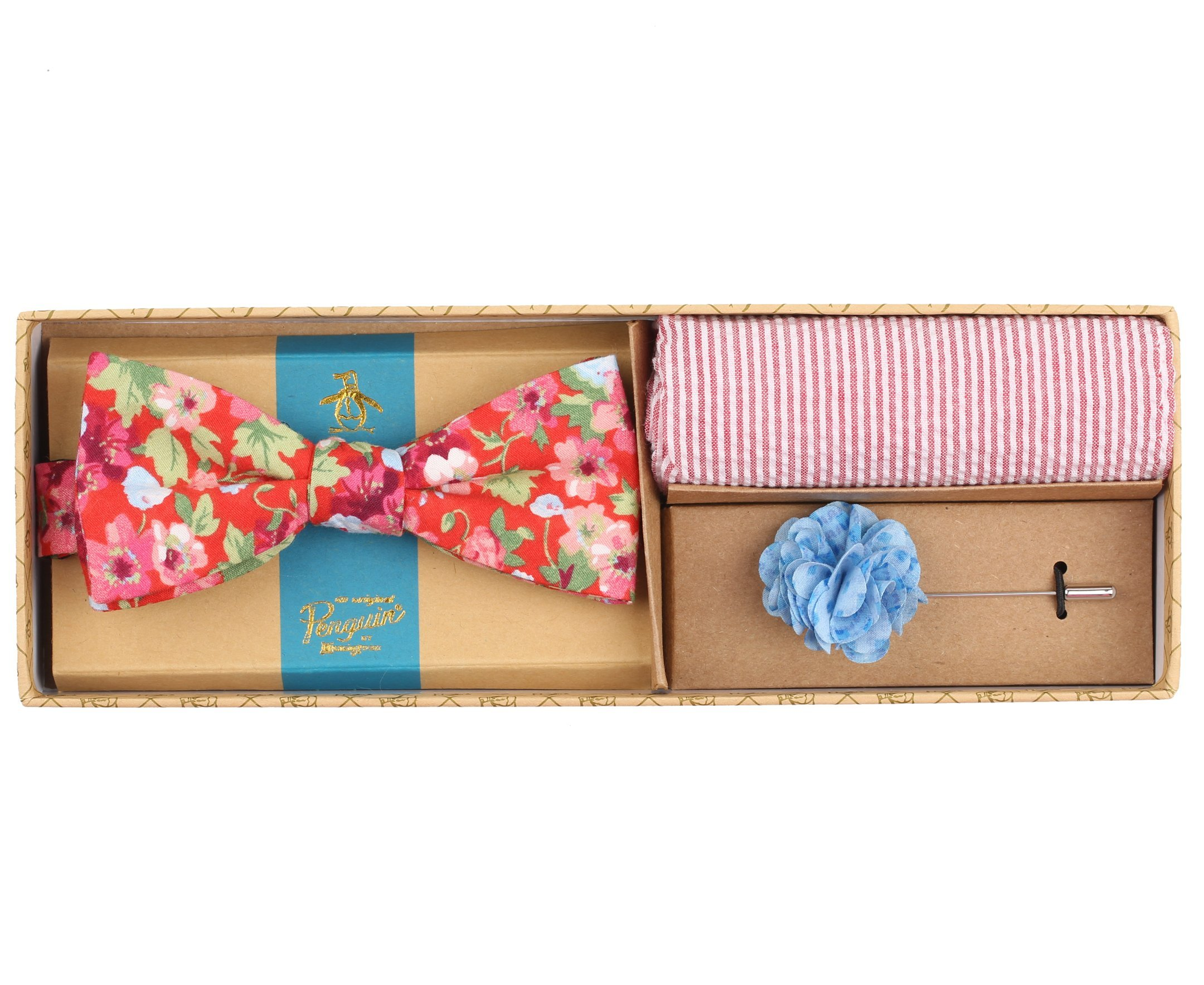 Original Penguin Men's Bimini Floral Tie, Red, One Size