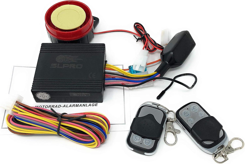 Sistema de alarma para soooter, motocicleta o quad (12 voltios) con arranque del motor + 2 transmisores para todas las scooter con 12 voltios