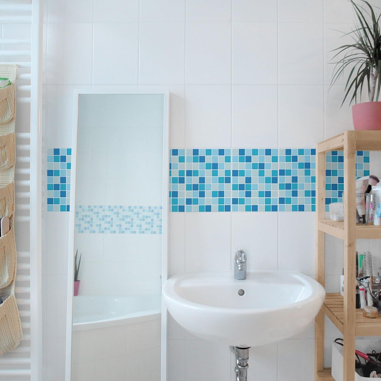 Tile Border - Mosaic Tiles Sound of the Sea 20cm x 15cm, Set Size:6 ...