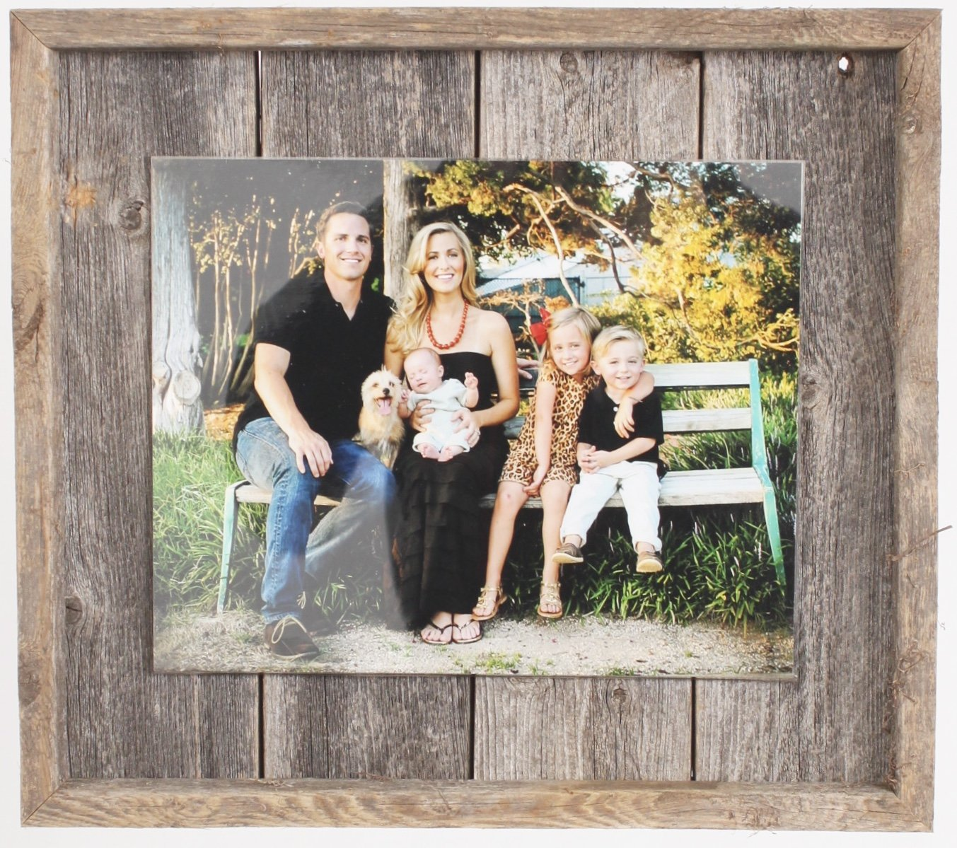 Rustic Wall Decor Picture Frame, Farmhouse Barnwood, Home Decoration (8'' x 10'') by BarnwoodUSA